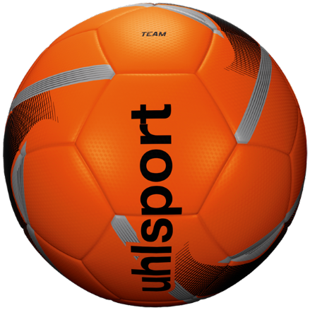 Uhlsport Team Fluo Orange / Black / Silver Size 5 Training Ball